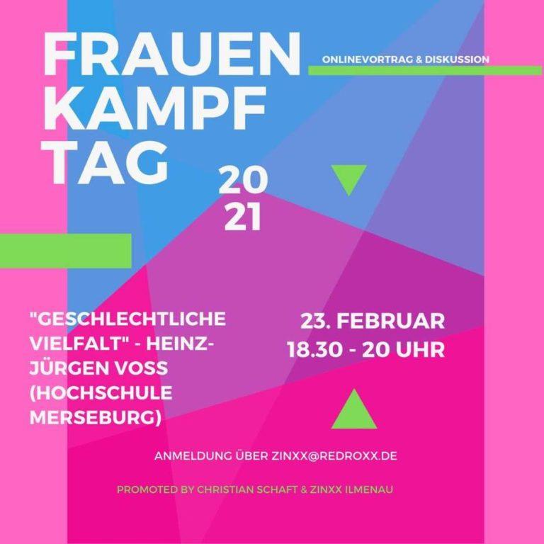 """23. Februar, 18:30, Ilmenau: Online-Vortrag & Diskussion zu """"Geschlechtliche Vielfalt"""""""